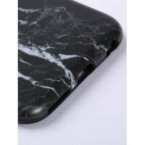Plastic Marble Print Finger Spinner Soft TPU IPhone Cover - BLACK WHITE IPHONE 5