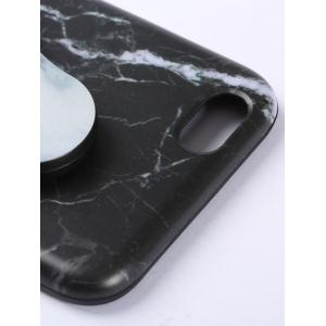 Plastic Marble Print Finger Spinner Soft TPU IPhone Cover - BLACK WHITE IPHONE 7