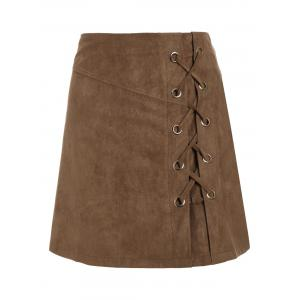 Lace Up Min iHigh Waist Skirt