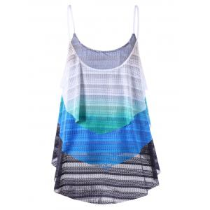 Zigzag Layered Tank Top - COLORMIX 2XL