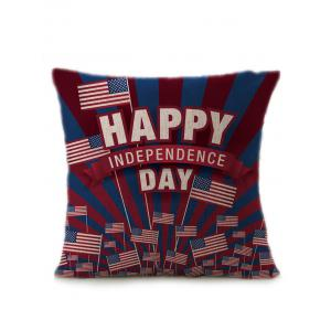 Patriotic American Flag Independence Day Linen Pillow Case