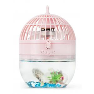 Mini LED USB Rechargeable Fish Tank Fan - Rose Pâle