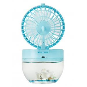 Mini LED USB Rechargeable Fish Tank Fan - Bleu