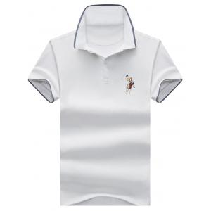 Half Button Embroidered Polo Shirt