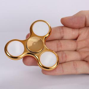 Electroplated Fidget Spinner with 18 Changing Patterns LED Light -