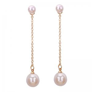 Faux Pearl Drop Earrings Jacket