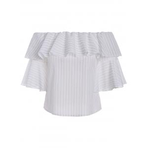 Bell Sleeve Stripe Off The Shoulder Top