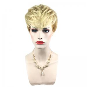 Short Side Bang Silky Straight Colormix Pixie Synthetic Wig