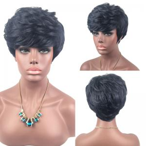 Adiors Short Layered Slightly Curly Side Bang Synthetic Wig