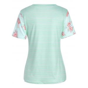 T-shirt à manches courtes Rose and Stripe Print -