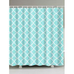 Geometric Printed Fabric Shower Curtain For Bath - Lake Blue - W71 Inch * L79 Inch