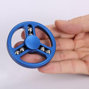 Six-balls Wheel Shape Fidget Metal Spinner Anti-stress Toy - BLUE