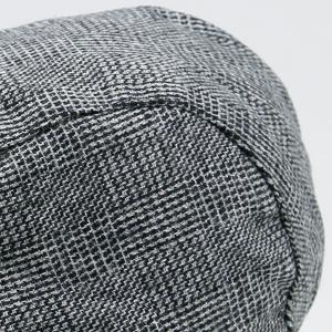 Dense Checked Vintage Flat Hat - STONE BLUE