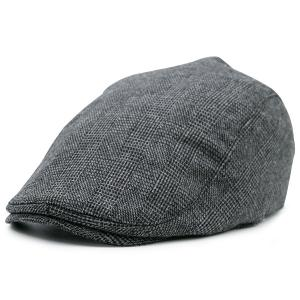 Dense Checked Vintage Flat Hat