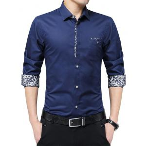 Floral Print Casual Pocket Shirt