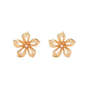 Artificial Pearl Flower Tiny Stud Earrings
