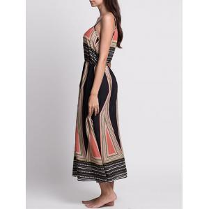 Casual Bohemian Print Slip Long Summer Dress -