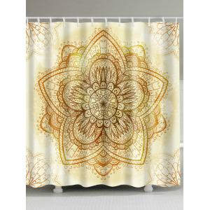 Waterproof Polyester Indian Mandala Shower Curtain - Light Yellow - W71 Inch * L79 Inch