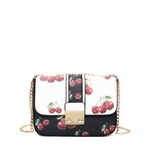 Cherry Print Chain Strap Crossbody Bag