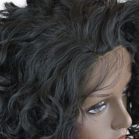Outfits Free Part Short Shaggy Curly Lace Front Synthetic Wig - BLACK  Mobile