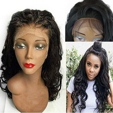 Online Long Shaggy Free Part Wavy Lace Front Synthetic Wig BLACK