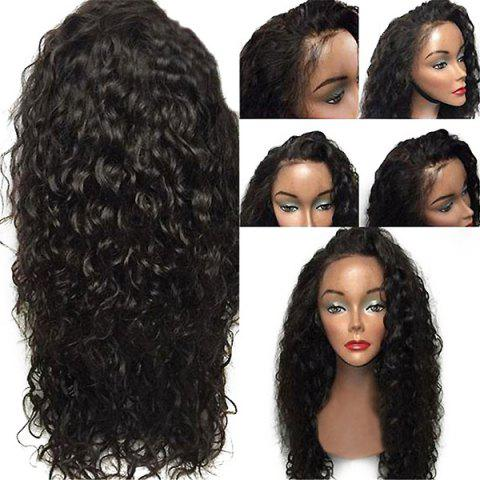 New Lace Front Free Part Shaggy Layered Long Curly Synthetic Wig - BLACK  Mobile