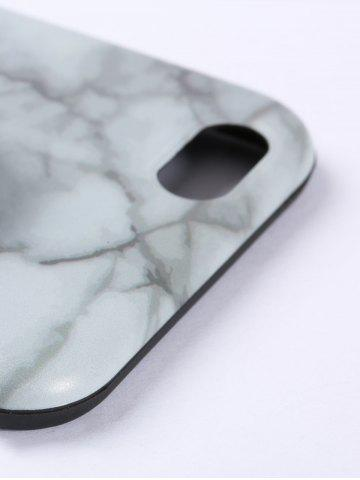Unique Plastic Marble Print Finger Spinner Soft TPU IPhone Cover - IPHONE 5 WHITE Mobile