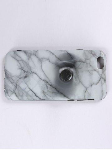 Chic Plastic Marble Print Finger Spinner Soft TPU IPhone Cover - WHITE IPHONE 6 Mobile