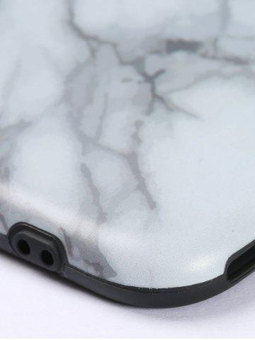 Unique Plastic Marble Print Finger Spinner Soft TPU IPhone Cover - WHITE IPHONE 6 Mobile
