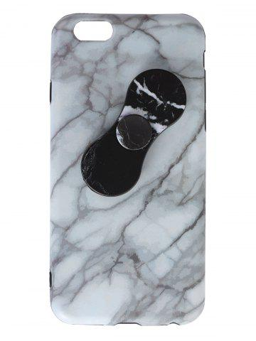 Chic Plastic Marble Print Finger Spinner Soft TPU IPhone Cover - WHITE IPHONE 7 Mobile