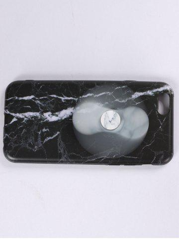 Outfits Plastic Marble Print Finger Spinner Soft TPU IPhone Cover - IPHONE 5 BLACK WHITE Mobile