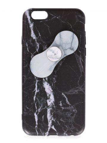 Outfits Plastic Marble Print Finger Spinner Soft TPU IPhone Cover BLACK WHITE IPHONE 6