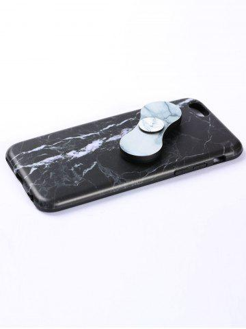Cheap Plastic Marble Print Finger Spinner Soft TPU IPhone Cover - BLACK WHITE IPHONE 7 Mobile
