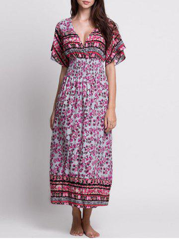 Outfits Floral Maxi Bohemian Dress