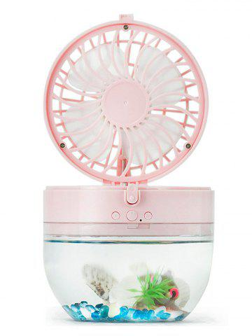 Mini LED USB Rechargeable Fish Tank Fan Rose Pâle