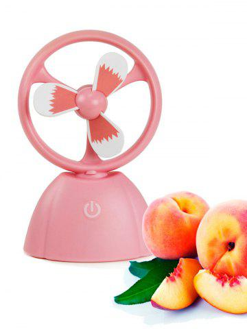 Mini ventilateur portable USB Fruit Style ROSE PÂLE