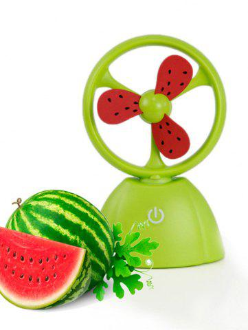 Outfit Mini Portable USB Fruit Style Fan - GREEN  Mobile