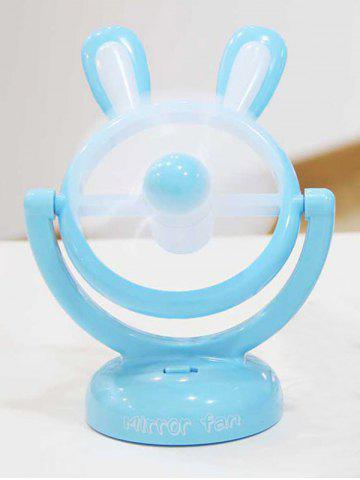 Cadeau d'anniversaire Mini table portable USB Cartoon Rabbit Fan Bleu