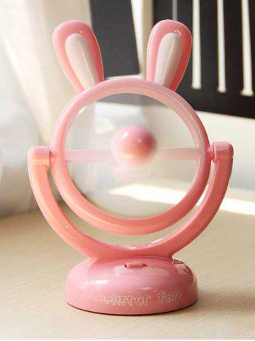 Cadeau d'anniversaire Mini table portable USB Cartoon Rabbit Fan ROSE PÂLE