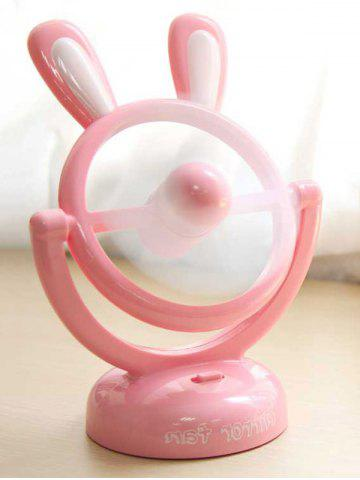 Outfits Birthday Gift Mini Portable Table USB Cartoon Rabbit Fan - PINK  Mobile