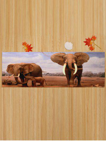 New African Elephant Soft Coral Fleece Floor Area Rug - W16 INCH * L47 INCH COLORMIX Mobile