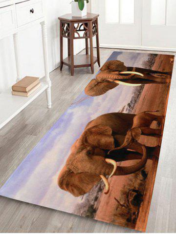 Outfits African Elephant Soft Coral Fleece Floor Area Rug - W16 INCH * L47 INCH COLORMIX Mobile