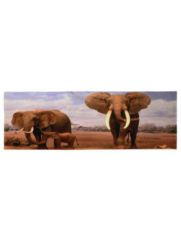 Fashion African Elephant Soft Coral Fleece Floor Area Rug - W16 INCH * L47 INCH COLORMIX Mobile