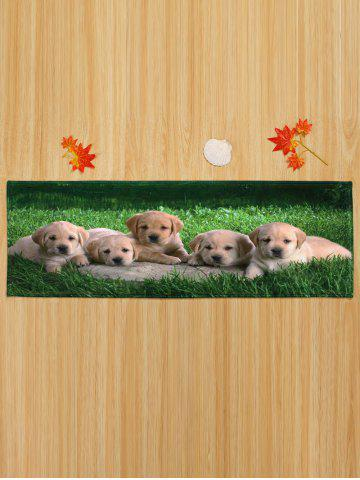 Shops Puppy Pets Coral Velvet Extra Long Bathroom Rug - W16 INCH * L47 INCH GREEN Mobile
