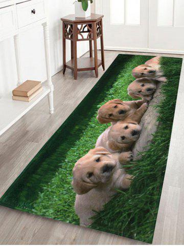Fashion Puppy Pets Coral Velvet Extra Long Bathroom Rug - W16 INCH * L47 INCH GREEN Mobile