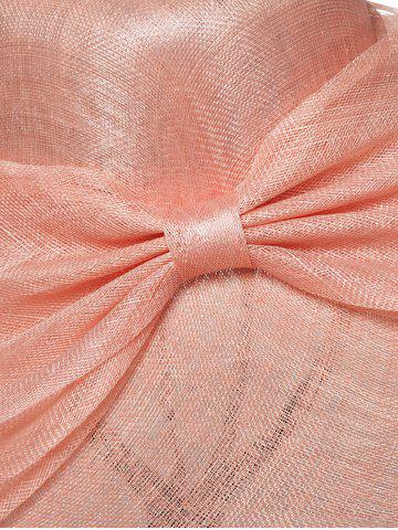 Outfit Cambric Layer Wide Brim Bowknot Banquet Hat - PAPAYA  Mobile