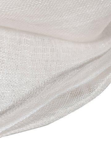 Discount Cambric Layer Wide Brim Bowknot Banquet Hat - WHITE  Mobile