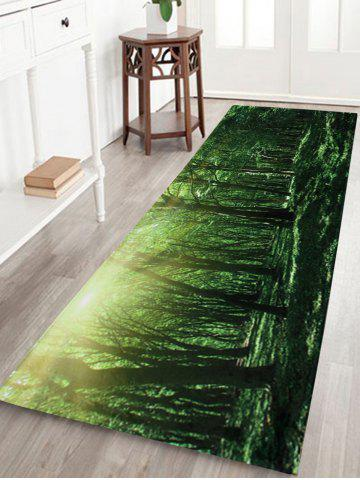 Outfit Coral Velvet Sunshine Forest Long Bath Rug - W16 INCH * L47 INCH GREEN Mobile