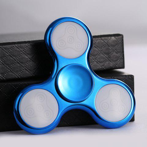 Best Electroplated Fidget Spinner with 18 Changing Patterns LED Light - BLUE  Mobile
