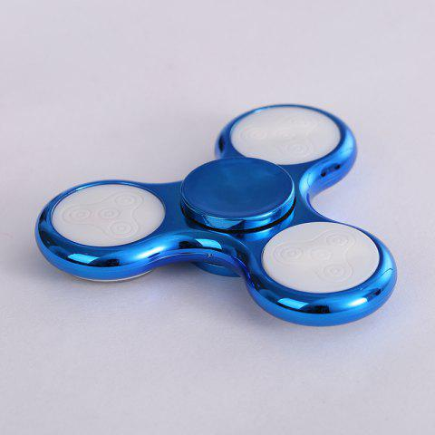 Sale Electroplated Fidget Spinner with 18 Changing Patterns LED Light - BLUE  Mobile